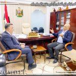 السيد مدير عام المركز الوطني للتطوير الاداري وتقنية المعلومات في وزارة التخطيط، يستقبل مدير عام العلاقات والاعلام في امانة بغداد
