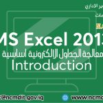 MS Excel 2013 Introduction-01